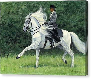 White Andalusia Flowing Mane Canvas Print