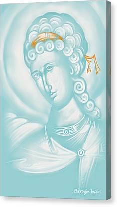 White Angel Canvas Print by Julia Bridget Hayes