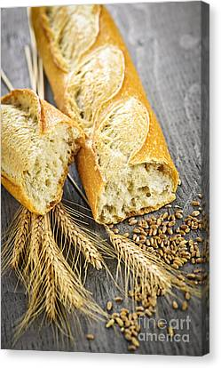 Bakery Canvas Print - White Baguette by Elena Elisseeva