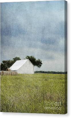 Nosyreva Canvas Print - White Barn by Elena Nosyreva