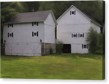 White Barns Canvas Print