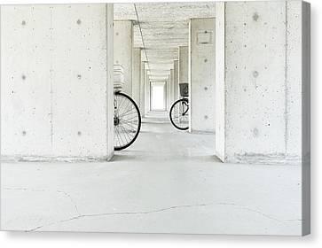 Parking Canvas Print - White Basket,black Basket by Keisuke Ikeda @