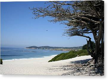 White Beach At Carmel Canvas Print by Christiane Schulze Art And Photography