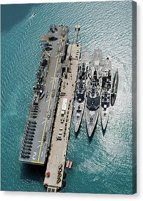 155 Canvas Print - White Beach Naval Facility by Us Navy/james G. Mccarter