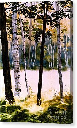 White Birch Trees Canvas Print