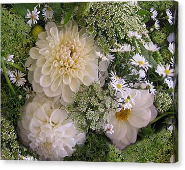 Canvas Print featuring the photograph White Bouquet by Geraldine Alexander