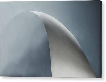 White Bow Canvas Print