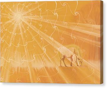 White Buffalo Calf Canvas Print by Robin Aisha Landsong
