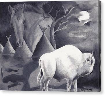White Buffalo Canvas Print by Molly Williams