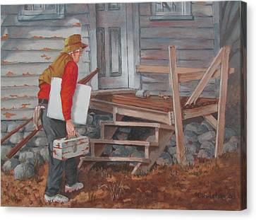 White Canvas Canvas Print by Tony Caviston