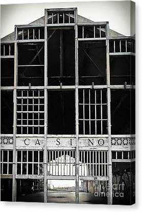 Asbury Park Casino Canvas Print - White Casino by Colleen Kammerer