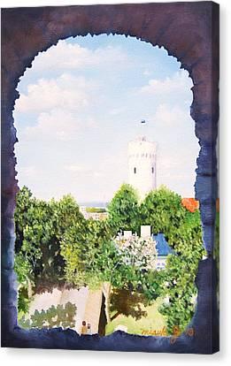 White Castle In Tallinn Estonia Canvas Print