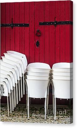 White Chairs Canvas Print