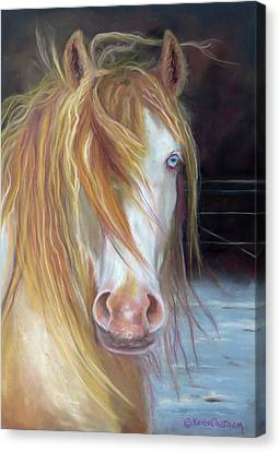 White Chocolate Stallion Canvas Print
