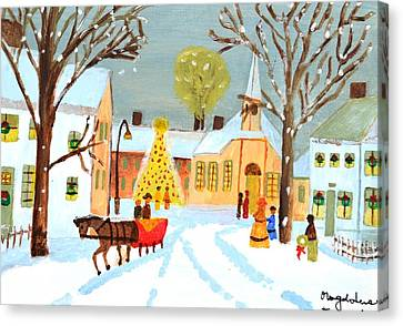 White Christmas Canvas Print by Magdalena Frohnsdorff