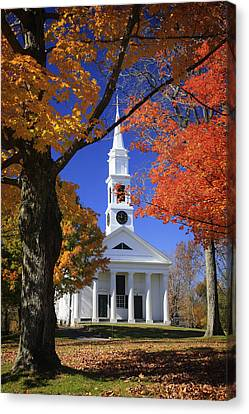 White Church Canvas Print by Dominique Dubied