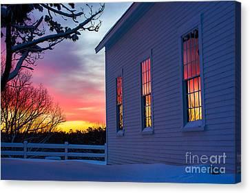 White Church Windows Canvas Print