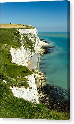 White Cliffs Of Dover.  Canvas Print by Ian Hufton