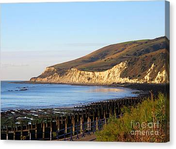 White Cliffs Of Eastbourne Beachy Head Canvas Print by Art Photography