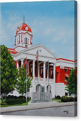 White County Courthouse - Veteran's Memorial Canvas Print