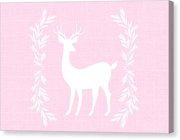 White Deer Canvas Print by Chastity Hoff