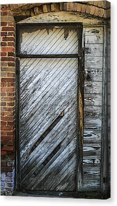 White Door Canvas Print by Steven  Taylor