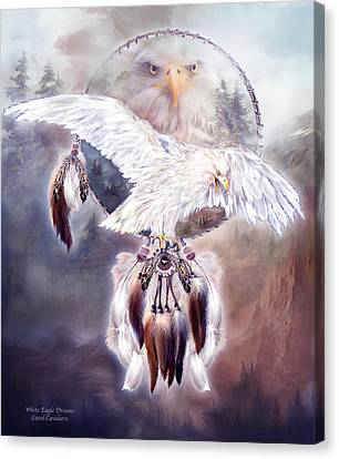 White Eagle Dreams 2 Canvas Print by Carol Cavalaris