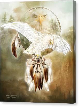 White Eagle Dreams Canvas Print by Carol Cavalaris