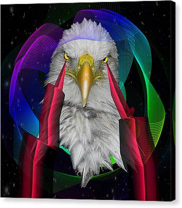 white Eagle face Canvas Print