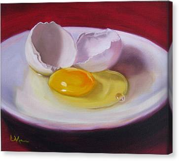Canvas Print featuring the painting White Egg Study by LaVonne Hand