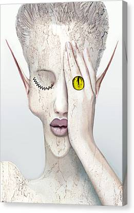 White Face Canvas Print