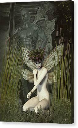 White Fairy Canvas Print by Quim Abella