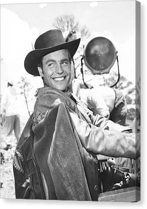 1950s Movies Canvas Print - White Feather, Robert Wagner by Everett