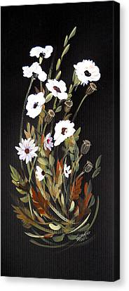 White Flowers Canvas Print by Dorothy Maier