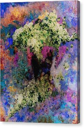 White Flowers In A Vase Canvas Print by Lee Green