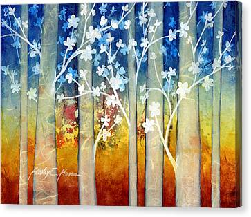 White Forest II Canvas Print by Hailey E Herrera