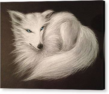White Fox Canvas Print