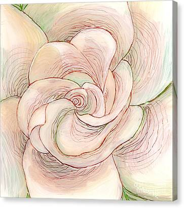 Canvas Print featuring the painting White Gardenia 1 by Anna Skaradzinska
