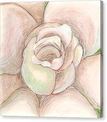 Canvas Print featuring the painting White Gardenia 2 by Anna Skaradzinska