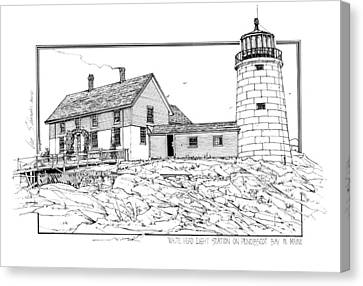 White Head Light Station Penobscot Maine Canvas Print by Ira Shander