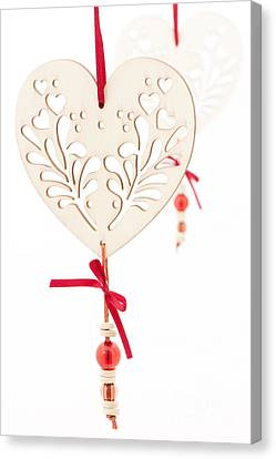 White Hearts Canvas Print by Anne Gilbert