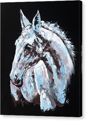White Horse Canvas Print by Konni Jensen