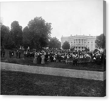 White House Play, 1908 Canvas Print by Granger