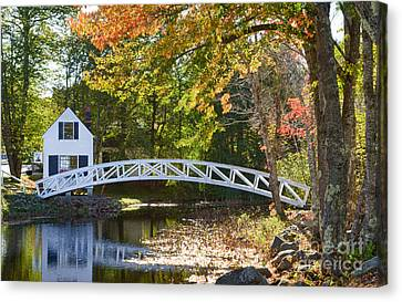 White House With Curved Bridge Canvas Print by Bill Bachmann
