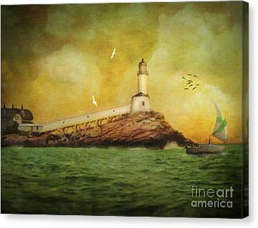White Island Light - Isles Of Shoals Canvas Print