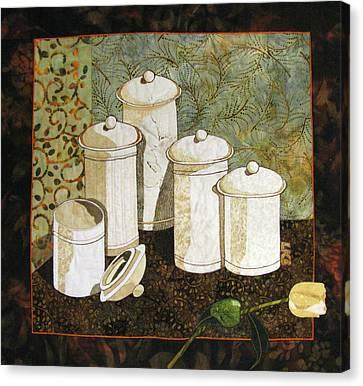White Jars Canvas Print by Lynda K Boardman