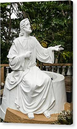 White Jesus Statue Canvas Print
