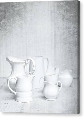 White Jugs Canvas Print by Amanda Elwell