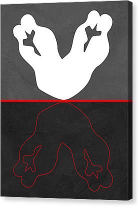 White Kiss Canvas Print by Naxart Studio
