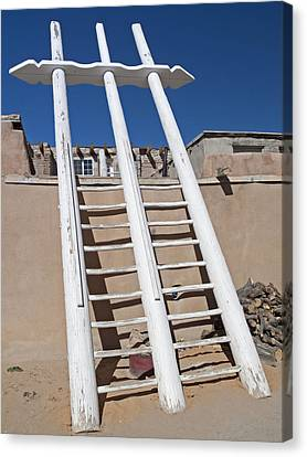 White Ladder Canvas Print